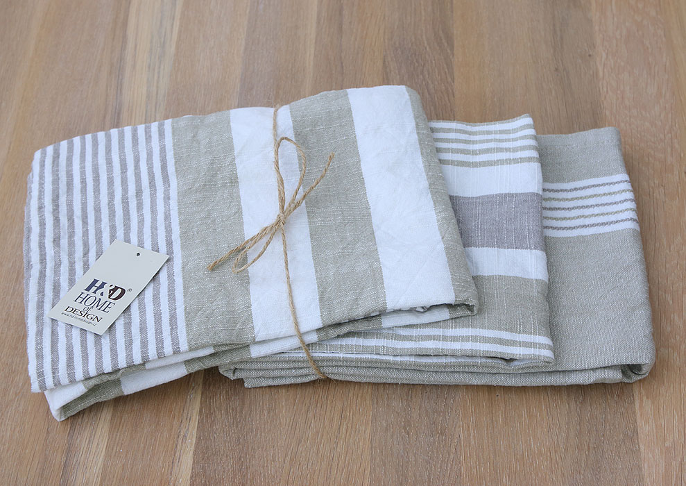 kitchen towels - 3 pieces - 100% cotton